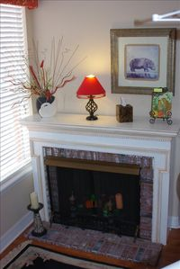 FAUX FIREPLACE READING AREA