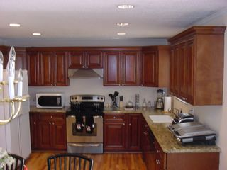 Duluth house photo - New cabinets, Granite countertops, Big fridge, kitchen is full equipped.