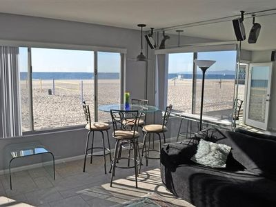 Dining Area with a perfect view of the Beach and the Hermosa Beach Strand