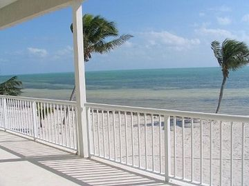Islamorada house rental - Palms sway, huge deck over looking private beach of the crystal clear ocean