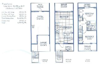 Tampa townhome photo - floor plan 2 bedroom 1.5 bath