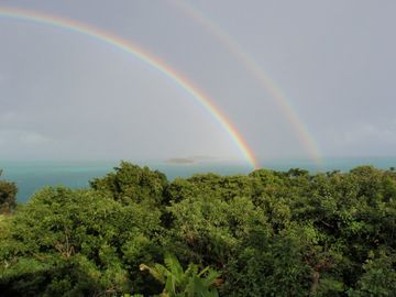 double rainbow over Sea of Abaco