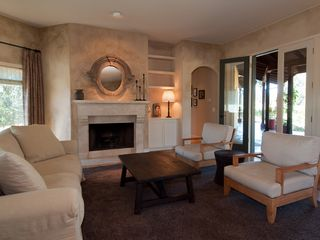 Sonoma house photo - A gas fireplace warms the living room