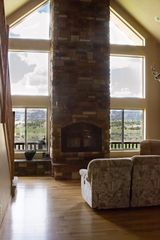 View out living room and fireplace. - Bryce Canyon house vacation rental photo