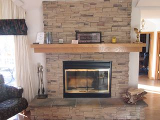 Galena house photo - Gorgeous Stone Wood Burning Fireplace