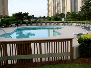 Kingston Plantation condo photo - Richmond Park's private swimming pool for the enjoyment of our guests.