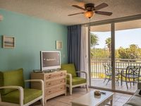 Newly furnished suite w/ shared pool & hot tub, tennis, balcony, & parking space