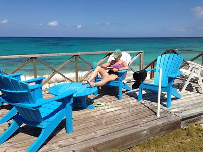 Relax on our 180 sq foot Beach Deck