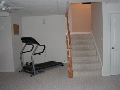 Treadmill on lower living level