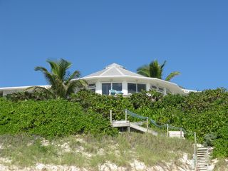 Elbow Cay and Hope Town villa photo - The steps from the beach to the lower level outdoor hot shower!