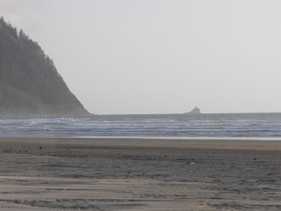Tillamook Head Lighthouse in the distance view to to the south