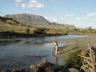 Yellowstone lodge photo - Fly Fishing Shoshone River (5 min. from Lodge)