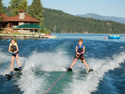 Get those kids out on the water! Our twins learned to waterski early!