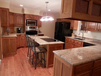 Hot Springs Village house rental - Big Beautiful Kitchen - Lots of Cabinets, Granite Countertops, Jenn-air Cooktop