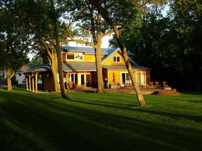 Alexandria house rental - Sunrise lights up the cabin