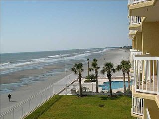 Beachfront,enjoy the pools-one on each end,check pool open dates view on right - Folly Beach condo vacation rental photo
