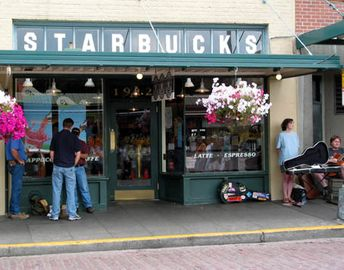 Walk to the first Starbucks Ever