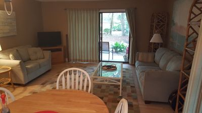 Spacious 3 Bedroom Condo Steps from the Beach with Pool.