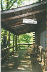 Maggie Valley cabin photo - Enjoy your morning cup of coffee on the deck.