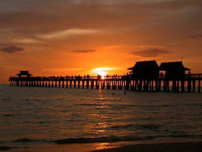 Sunset on Naples Pier