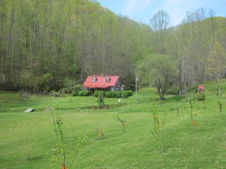 Robbinsville farmhouse photo - House from Meadow