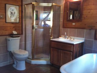 Angel Fire house photo - Bath with Tub and Shower.