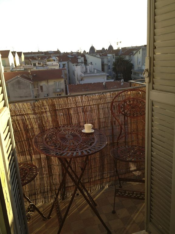 Morning coffee on the terrace from the kitchen.