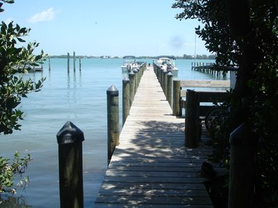 Private dock shared by owners/renters only.