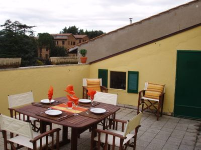 Apartment in Orvieto, Italy (in old town) with large sunny terrace