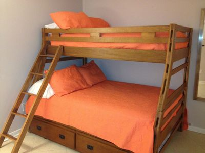 Indian Shores condo rental - Bdr#3 w full size bottom bunk - twin top bunk and twin pull out trundle sleeps 4