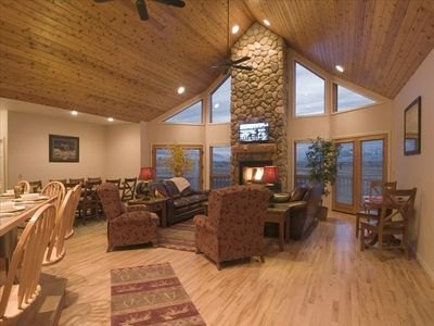 Bull Moose retreat- Living Room