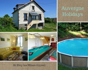 Detached 1930's french holiday home with pool