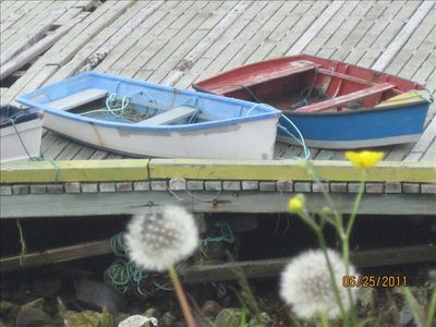 Rowboats in Ochre Pit Cove at the Wharf