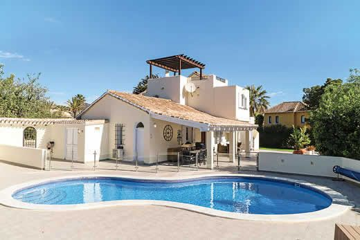 Private family villa w/ bespoke furnishings, terrace and gated pool