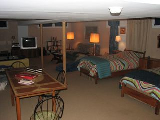 Alburg estate photo - Family room-Bed #6 2 twins/ plus futon. Sattlelite TV, Stereo, pinp pong table