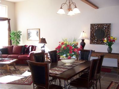 Beautiful living and dining room