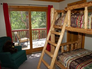 Cascade house photo - Area 2 Second Bedroom with Log Bunk Beds