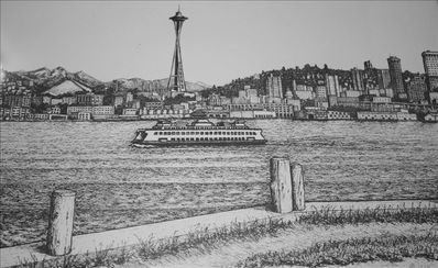 Entry Artwork:  The Seattle Skyline and the Kalakala