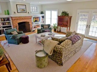 Vineyard Haven house photo - Living Room Has French Doors That Open To Large Deck For Outdoor Entertaining