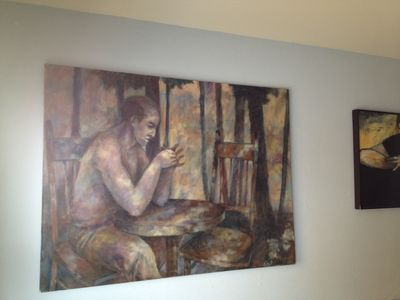Man Drinking Coffee by Richard Seger