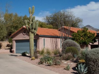 The Front Yard of this lovely home in Sabino Canyon.