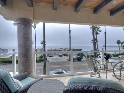 Amazing master bedroom balcony with 180 degree view of the Ocean and Pier