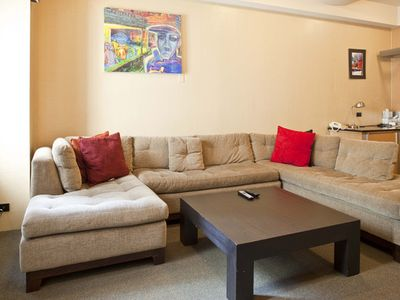 Central Park South condo rental - Living Room - Very Comfortable Sofas
