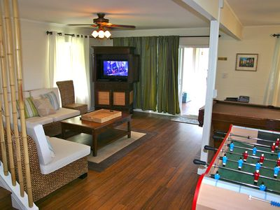 ground floor entertainment room. Fooseball and pool & TV room.