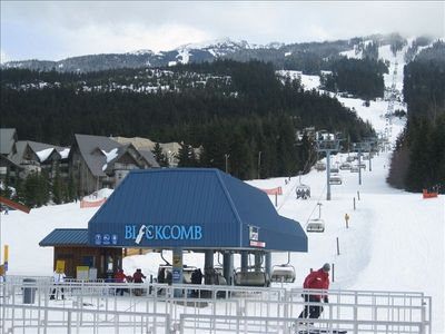 Literally steps to the base of Blackcomb mountain, Wizard Express and tickets.