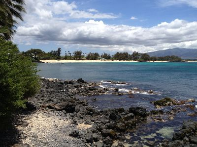 View of Paia Bay from the end of the small road that Suites are on.