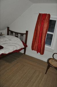 St Paul cabin rental - Small bedroom, down comforter.