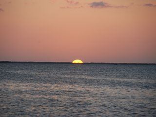 Key Largo house photo - sunset over our bay