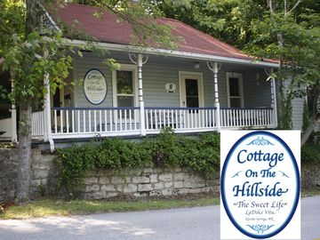 Eureka Springs cottage rental - Cottage On The Hillside complete with wrap around porch and swing!
