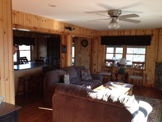 Moorefield cabin photo - Living room with gas fireplace.